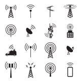 Sistema del icono de la antena Imagenes de archivo