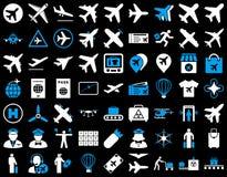 Sistema del icono de la aviación Imagen de archivo