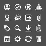 Sistema del icono de la barra de herramientas, vector eps10 Foto de archivo libre de regalías
