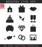 Sistema del icono de la boda Foto de archivo