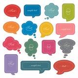 Sistema del icono de la burbuja del discurso stock de ilustración