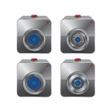 Sistema del icono de la cámara Imagenes de archivo