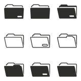 Sistema del icono de la carpeta Fotos de archivo