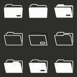 Sistema del icono de la carpeta Imágenes de archivo libres de regalías