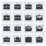 Sistema del icono de la cartera Imagenes de archivo