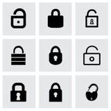 Sistema del icono de la cerradura del vector Fotos de archivo libres de regalías