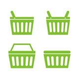 Sistema del icono de la cesta de compras Foto de archivo libre de regalías