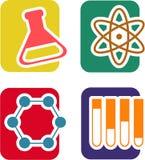 Sistema del icono de la ciencia Fotografía de archivo libre de regalías