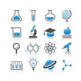Sistema del icono de la ciencia Imagen de archivo libre de regalías