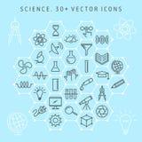 Sistema del icono de la ciencia Foto de archivo