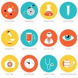 Sistema del icono de la ciencia médica ilustración del vector