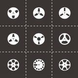 Sistema del icono de la cinta del vector Foto de archivo libre de regalías