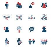 Sistema del icono de la comunidad stock de ilustración