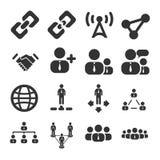 Sistema del icono de la conexión de la gente Foto de archivo libre de regalías