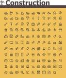 Sistema del icono de la construcción Fotos de archivo libres de regalías