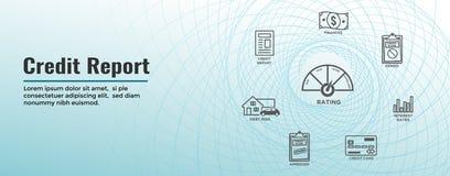 Sistema del icono de la cuenta de crédito y portada de la web - tarjeta de crédito realista de la carta o del gráfico w de la emp ilustración del vector