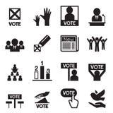 Sistema del icono de la democracia Imágenes de archivo libres de regalías