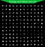 Sistema del icono de la ecología y de la naturaleza Foto de archivo
