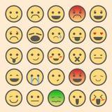 Sistema del icono de la emoción Imágenes de archivo libres de regalías