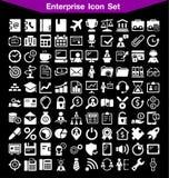 Sistema del icono de la empresa Fotos de archivo