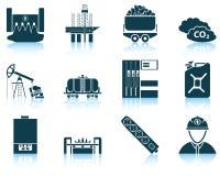 Sistema del icono de la energía Imágenes de archivo libres de regalías