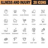 Sistema del icono de la enfermedad Imagen de archivo