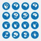 Sistema del icono de la enfermedad del movimiento para infographic stock de ilustración