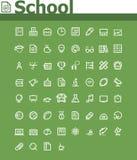 Sistema del icono de la escuela Imágenes de archivo libres de regalías