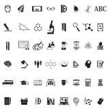 Sistema del icono de la escuela de la educación ilustración del vector