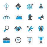 Sistema del icono de la estrategia empresarial Imágenes de archivo libres de regalías