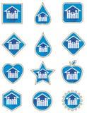 Sistema del icono de la familia Foto de archivo libre de regalías