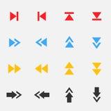 Sistema del icono de la flecha Fotos de archivo libres de regalías
