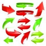 Sistema del icono de la flecha. Vector Foto de archivo
