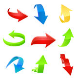 Sistema del icono de la flecha. Vector Imágenes de archivo libres de regalías