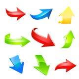 Sistema del icono de la flecha. Vector Foto de archivo libre de regalías