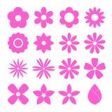 Sistema del icono de la flor Imagen de archivo libre de regalías