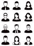 Sistema del icono de la gente Fotografía de archivo libre de regalías