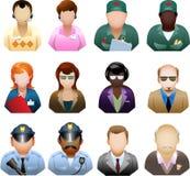 Sistema del icono de la gente de la sociedad Imagen de archivo libre de regalías