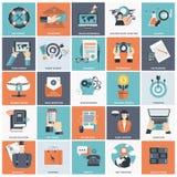 Sistema del icono de la gestión de negocio Fotos de archivo libres de regalías