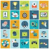 Sistema del icono de la gestión de negocio Imagenes de archivo