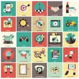 Sistema del icono de la gestión de negocio Fotografía de archivo