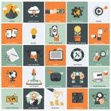 Sistema del icono de la gestión de negocio Foto de archivo libre de regalías