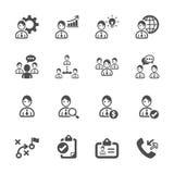 Sistema del icono de la gestión de recursos humanos, vector eps10 Imagen de archivo libre de regalías