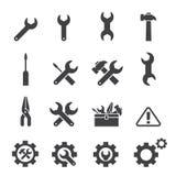Sistema del icono de la herramienta fotografía de archivo libre de regalías