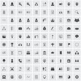 Sistema del icono de la hora Fotografía de archivo libre de regalías