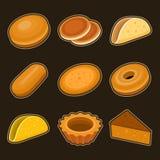 Sistema del icono de la hornada stock de ilustración