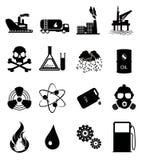 Sistema del icono de la industria Foto de archivo
