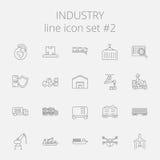 Sistema del icono de la industria Fotografía de archivo