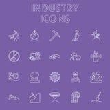 Sistema del icono de la industria Imágenes de archivo libres de regalías