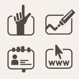 Sistema del icono de la información Fotografía de archivo libre de regalías